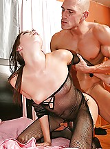 Missy Stone reverses the role and fucks the robber and his big cock