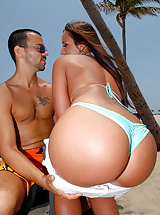 Beautiful hot round ass lexxxi gets fucked at the beach in these hot micro bikini fuck pics